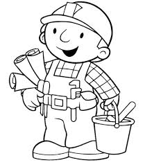 Small Picture 84 best Bouwen Kleurplaten images on Pinterest Bob the builder