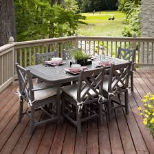 Indoor Picnic Style Dining Table Grey Wood Dining Table Grey Nailhead Dining Chairs Kitchen Beach