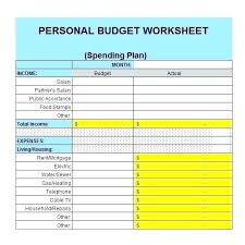 How To Make A Monthly Budget On Excel Personal Budget Excel Spreadsheet Template Sample Yearly Personal