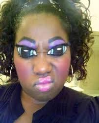 the all seeing eye this woman s makeup makes it look like she s always watching