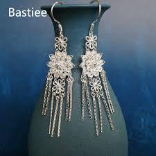 <b>Bastiee 999 Sterling</b> Silver Flower Tassel Earrings For Women ...