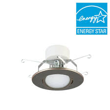 Oil Rubbed Bronze Recessed Lighting Lithonia Lighting 5 In Brushed Oil Rubbed Bronze Led Recessed Downlighting Gimbal Module