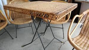 vintage wicker patio furniture. Vintage Wicker Patio Set \u2013 Table \u0026 4 Chairs Nice Set. 00F0F_iyNKtoaSeF4_600x450. ;  Furniture E