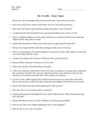 crucible essay topics the crucible essay topics doc english11