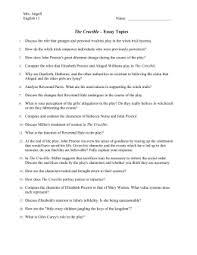 crucible essay topics the crucible essay topics doc english11