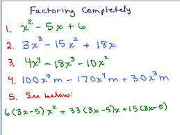 factoring completely 1 preview image