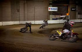 flat track motorcycle racing at salem speedway last moto
