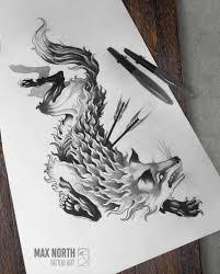 Black Fox Tattooart By Max North Tattoos эскиз тату эскиз и