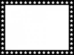 星パターン白黒のフレーム飾り枠イラスト 無料イラスト かわいい