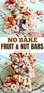 fruit and nut bars with almond