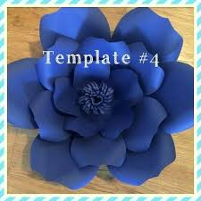 Paper Flower Templates Free Download Free Flower Template Shop Download Meetwithlisa Info