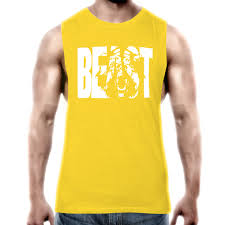 online buy whole professional word from professional professional word vest tank tops men s beast printed singlets vest multicolor cotton clothings
