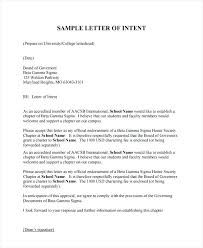 Template The Best Solutions Of Letter Intent Sample University