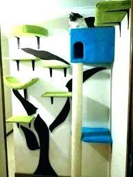 wall mounted cat tree bed shelves awesome wine barrel ideas shelf s hung designer design