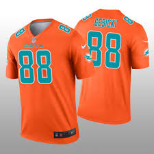Orange Gesicki Legend Men's Miami Inverted - Mike Jersey Dolphins