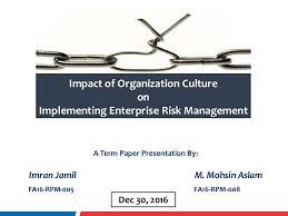 term paper impact of organizational culture on enterprise risk mana
