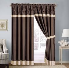 Priscilla Curtains Living Room Light Blue Curtains With Attached Valance