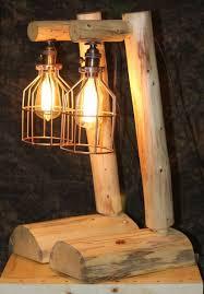 custom rustic log lamps by the rustic woodshop  custommadecom