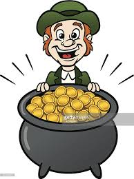 leprechaun with pot of gold vector art   getty imagesleprechaun with pot of gold   vector art