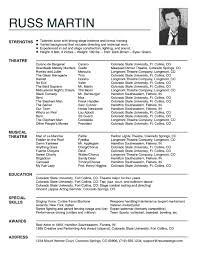 Top Resume New Actor Resumes Top Resume Tips For Actors