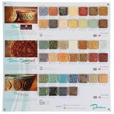 Duncan Art Glazes Tile Chart Special Order