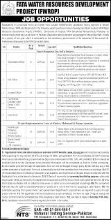 opportunities in fata water resources development project fwrdp job opportunities in fata water resources development project fwrdp kpk 26th 2016