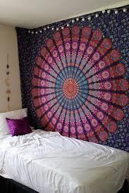 queen pink purple indian mandala throw tapestry dorm hippie boho bedspread