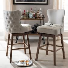 padded swivel bar stools. Delighful Bar Taupe ButtonTufted Upholstered Swivel Bar Stool Pair  Gradisca  RC  Willey Furniture Store With Padded Stools T