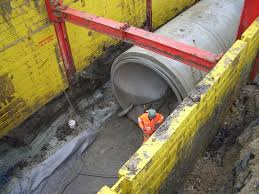 Image result for Slide Rail Trench Shoring System is used is for laying pipe