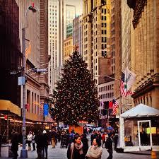Christmas tree Wall Street New York
