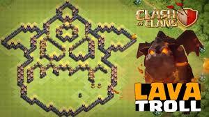 Layout Troll Cv9 Do Lava Hound Youtube