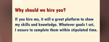 why should we hire you interview question crack your dream job with answers to these interview questions