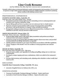 Line Cook Resume Template Unique Prep Cook Resume Sample Writing Tips Resume Companion