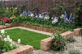 Small Picture gardening with bricks SMALL GARDEN WITH BRICK BORDER SPRING