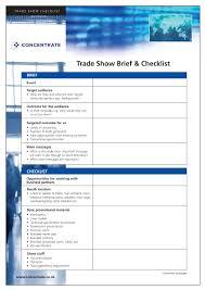 9 Trade Show Checklist Examples Pdf