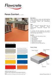 Flowcrete Color Chart Peran Comfort Flowcrete India Manualzz Com