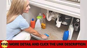Kitchen Liners For Cabinets See Under Sink Cabinet Mat Drip Tray Liner Beige Excellence Youtube