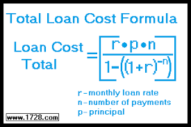 loan formulas total loan cost formula and calculator