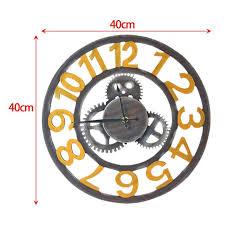 vintage roman clock retro european gear