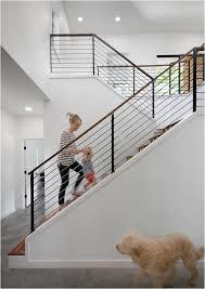 More modern stair railing idea.
