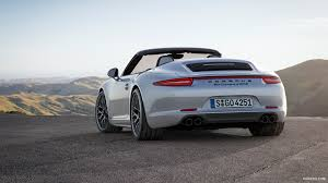 The porsche 911 carrera 4 gts convertible was launched in 2014. 2015 Porsche 911 Carrera 4 Gts Cabriolet Rear Hd Wallpaper 3