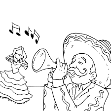 Cinco de mayo's history is based on the celebration of the mexican army's victory over the french at the battle of puebla on may 5th, 1862. Cinco De Mayo Coloring Pages