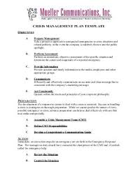 crisis management plan example introduction the followin