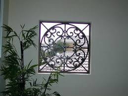 faux wrought iron window insert by inserts