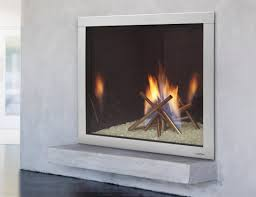 simple contemporary white on the wall ventless gas fireplace for a modern living room white walls with dark grey ceramic flooring and white painted ceilings