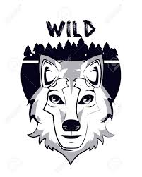 Wolf Design Sweatshirts Wild Wolf Print For T Shirt Vector Illustration Clothing Design