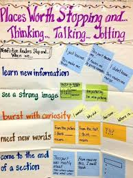 Stop And Jot Anchor Chart Middle School Reading Reading