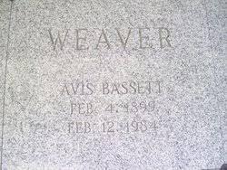 Avis Bassett Weaver (1899-1984) - Find A Grave Memorial
