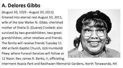 A Delores Gibbs (1929-2011) - Find A Grave Memorial