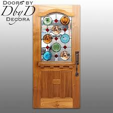french country stained glass door